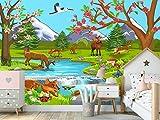papel pintado bosque infantil