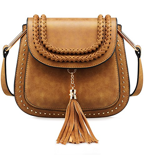 Tom Clovers Crossbody Bags for Women Vintage Tassel Saddle Shoulder Bag Sling Bag Shopping Travel Satchel