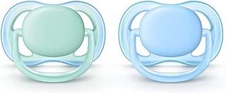 Philips Avent Ultra Air Pacifier, 0-6 months, blue/green, 2 pack, SCF244/20