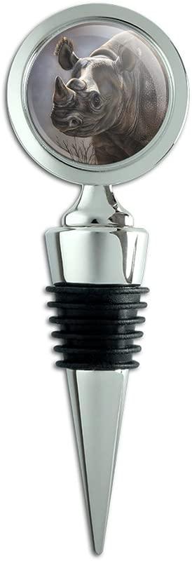 Black Rhino Rhinoceros Wine Bottle Stopper