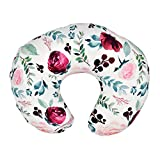 Multi-Use Nursing Pillow Cover, Soft Stretchy Breastfeeding Pillow Case, Nursing Pillow Slipcovers (Pink Floral)