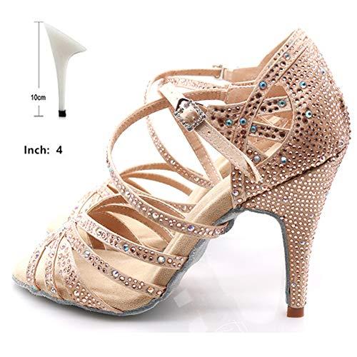 HOAPL Dames Ballerinas Strass Salsa Tango Sociali Vrouwen Tacchi 6-10 cm Dancing Shoes Signore kalmering