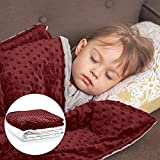 """💤This weighted blanket is engineered to be 8% to 12% of your body weight. The 5 lb 36""""x48"""" blanket is perfect for children between 40 to 60 lb. 😴Get even more value for your buck as this blanket comes with both the inner blanket and a outer dotted mi..."""