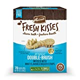 Merrick Fresh Kisses Double-Brush Dental Dog Treats With Mint Breath Strips For Extra Small Dogs - 24 oz Bag with 78 Brushes