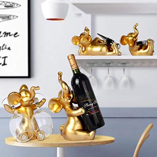 YAOJII 4 stks/set Olifant Wijn Rek Fles Houder Creatieve Beeldjes & Miniaturen Keramische Thuis Ambachten Decoratie Accessoires