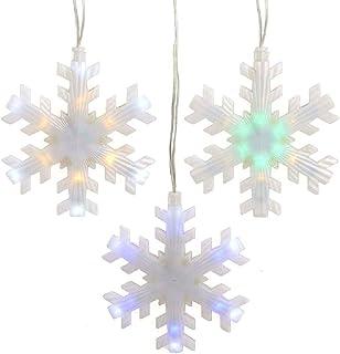 Kurt S. Adler Kurt Adler 155-Light Color Changing LED Snowflake Icicle Novelty Light Set, Multi