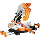 PPLAS Máquina de Corte de aserrado de aleación de Aluminio de 45 Pulgadas de 45 Pulgadas de 45 Grados Sierra de inglete de aserrado de aleación de Aluminio de 355 mm (Color : Orange)