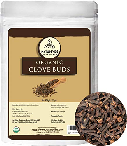 Naturevibe Botanicals Organic Clove Buds, 100gm (3.53oz) | Non-GMO and Gluten Free | Indian Spice | Adds Aroma and Flavor