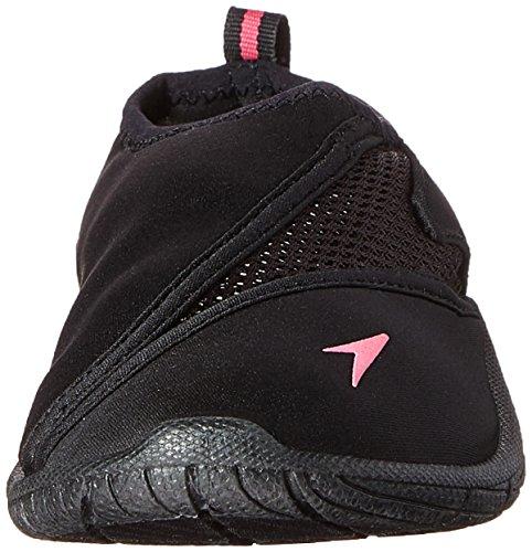 Speedo Women's Water Shoe Surfwalker Pro 3.0,Black/Pink,7 Womens US