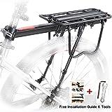 Vélo porte bagage, Vélo arrière Rack Aluminium Vélo Montagne Support Tige de Selle MTB Cargo Porte-Bagages avec Réflecteur