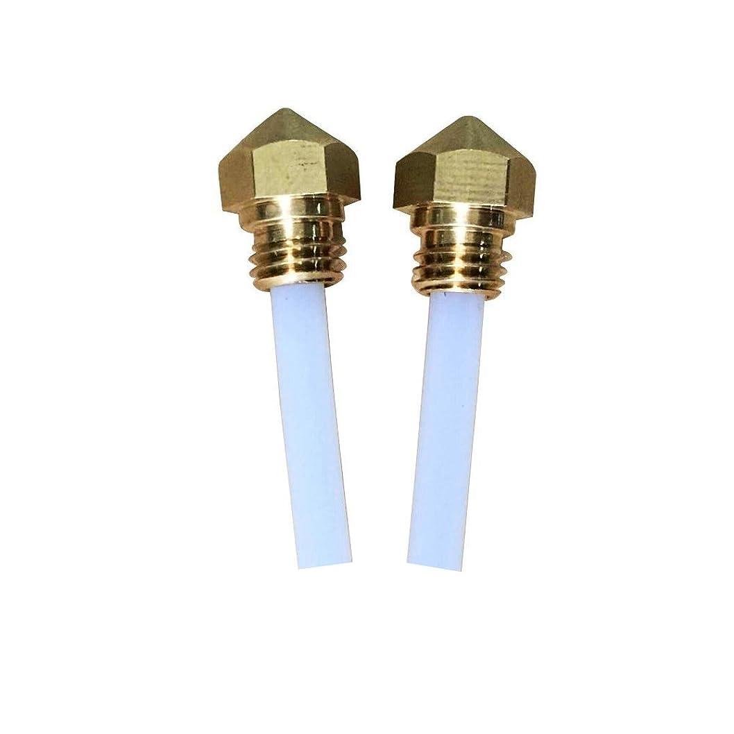 ベアリングかみそりパーセントQIDI TECHNOLOGY X-Smart 3Dプリンター 交換 ノズル 1.75mm フィラメント ノズル径 0.4mm extruder nozzle for MK10 ABS PLA Printer (2個セット)