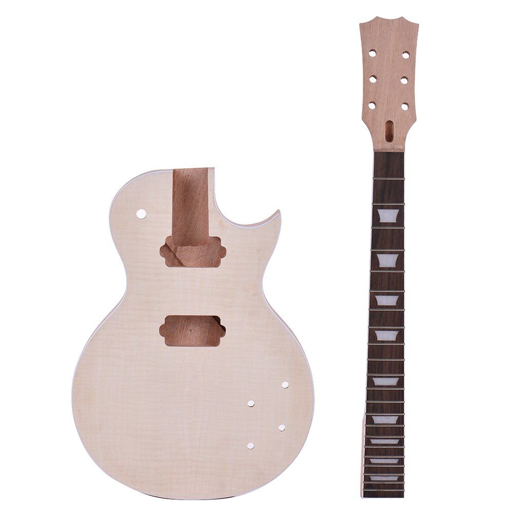 ammoon Guitarra Eléctrica Estilo LP Inacabada Kit de Bricolaje ...
