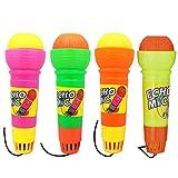 TOYMYTOY 4 stücke Echo Kinder Mikrofon, Handmikrofon Spielzeug Singen Geschenke für Kindergeburtstag -