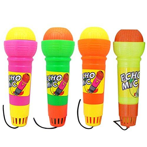 TOYMYTOY 4 stücke Echo Kinder Mikrofon, Handmikrofon Spielzeug Singen Geschenke für Kindergeburtstag