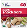 Plum Organics Mighty Snack Bars for Toddlers, Strawberry Fruit Snack Bar, 4 Ounce Box, 6 Count (Pack of 8)