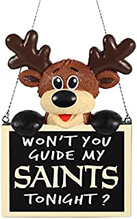 FOCO NFL Unisex Reindeer with Sign Ornament