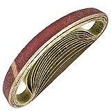 FANSWD 25 unids/set bandas de lijado 520mm * 20mmpara barniz de madera accesorios de pulido herramientas abrasivas
