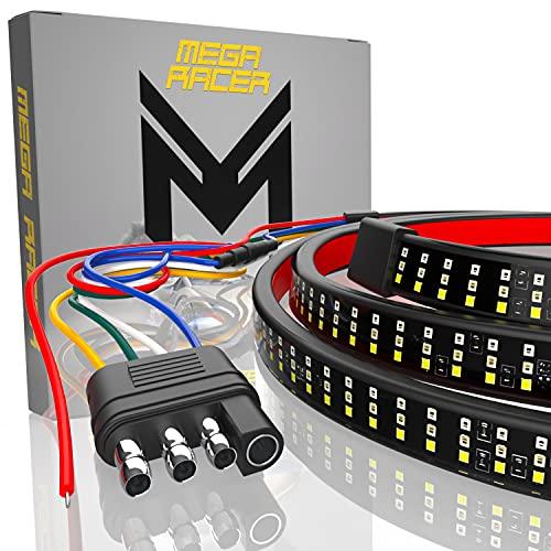 Mega Racer Triple Row 60 Inch LED Tailgate Light Bar for Trucks - 5 Functions...