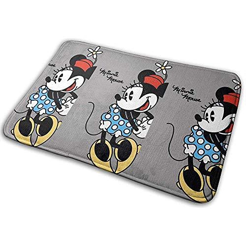 Liumt Welkom deurmat Minnie Mouse Flower Indoor Outdoor ingang tapijt voetmatten schoenkrabber 40cm x 60cm