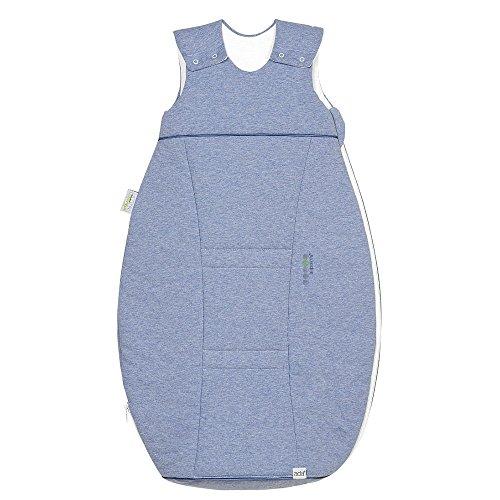 Odenwälder Jersey-Schlafsack Airpoints Melange bleu, Größe in cm:110 cm