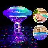 SUNSHIN Piscina con lámpara LED Flotante a Prueba de Agua, luz de baño Que Cambia de 7 Colores, para Piscina de Estanque de baño Juguetes de baño para niños Regalo
