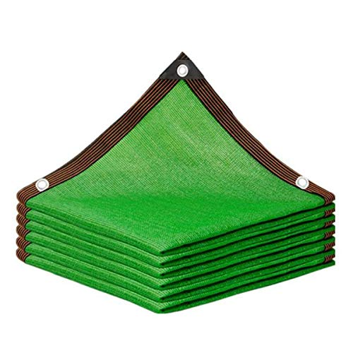 AYUSHOP Lona De Sombra 6 Pines Tasa De Sombreado 85% Toldos Reforzar Espesar Anti-Envejecimiento Protección UV para Plantas, Invernaderos, Cocheras, Patios, Verde,5x6m