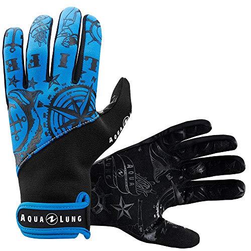Aqualung Admiral III Herren Dive Handschuhe, blau / schwarz, Small