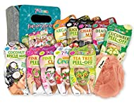 7th Heaven Pamper Hamper Gift Set - Includes a Variety of Peel-Off and Mud Face Masks, Coconut Hair ...
