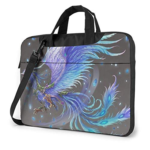 Bolso para computadora Phoenix púrpura y Azul, maletín para computadora portátil Duradero, cojín, Bandolera Protectora para PC, Tableta