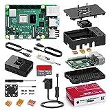 Bqeel Kit Raspberry Pi 4 Model B da 4GB RAM+MicroSD 32GB, RPi Barebone con Accessori 2 Cavo HDMI,...