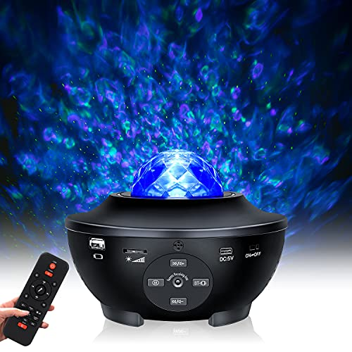 LED Star Light Projector, Tanbaby Sky Light Projecter Night Light Projector, Remote Control LED Nebula Cloud Music Player with Bluetooth for Christmas Birthday Party Baby Kids Bedroom