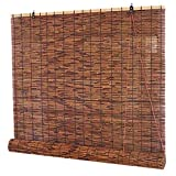 JXJ Persianas enrollables de carbonización, Ventana Enrollable de bambú, Cortina de caña Natural, Cortina de bambú, persiana para el hogar, Parasol, Impermeable, Transpirable, para Interior, ext