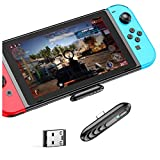 Bluetooth 5.0 Audio Transmitter Wireless Adapter with USB-C Port,Connector for Nintendo Switch 2DS 3DS XL, PS4, PS5, Bluetooth Headset and Speakers, Plug and Play
