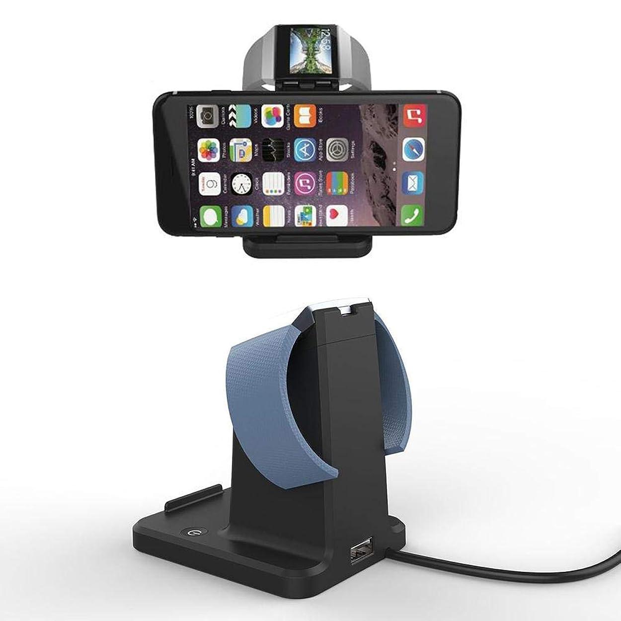 辛な有力者進化するスマートウォッチ充電器Fitbit Ionic Charger 2in1 携帯+ウォッチ 充電器 磁気充電ブラケット 急速充電器 スマートウォッチ充電器 ワイヤレス電源 大容量ポータブル 時計充電器