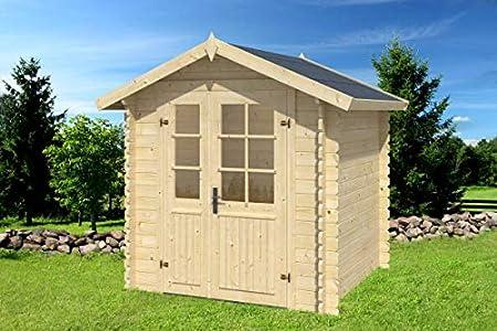 Caseta de jardín G92-28 mm, superficie de 3,60 m2, tejado