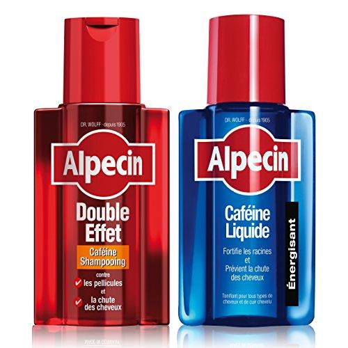 Alpecin Champú cafeína doble efecto, 200ml + Alpecin cafeína líquido, 200ml (Champú Anticaída & antipelliculaire + líquido)