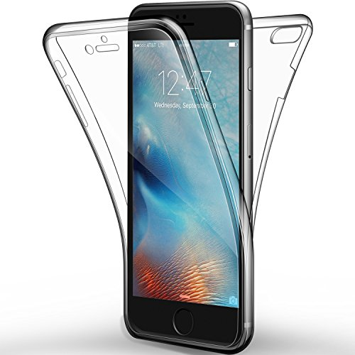 "Leathlux Coque iPhone 7/iPhone 8/iPhone SE 2020 Etui Silicone Gel Case Avant et Arrière Intégral Full Protection Cover Transparent TPU Housse Anti-Rayures pour Apple iPhone7/8/iPhone SE 2020 4.7"""