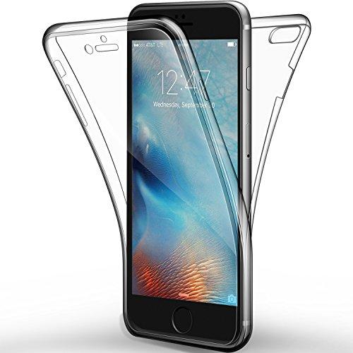 Cover iPhone 7/ iPhone 8, Leathlux Custodia iPhone 7 Silicone Morbido Trasparente TPU Full Protettiva Cassa Resistente Ai Graffi Case Per Apple iPhone 7 / iPhone 8 4.7'