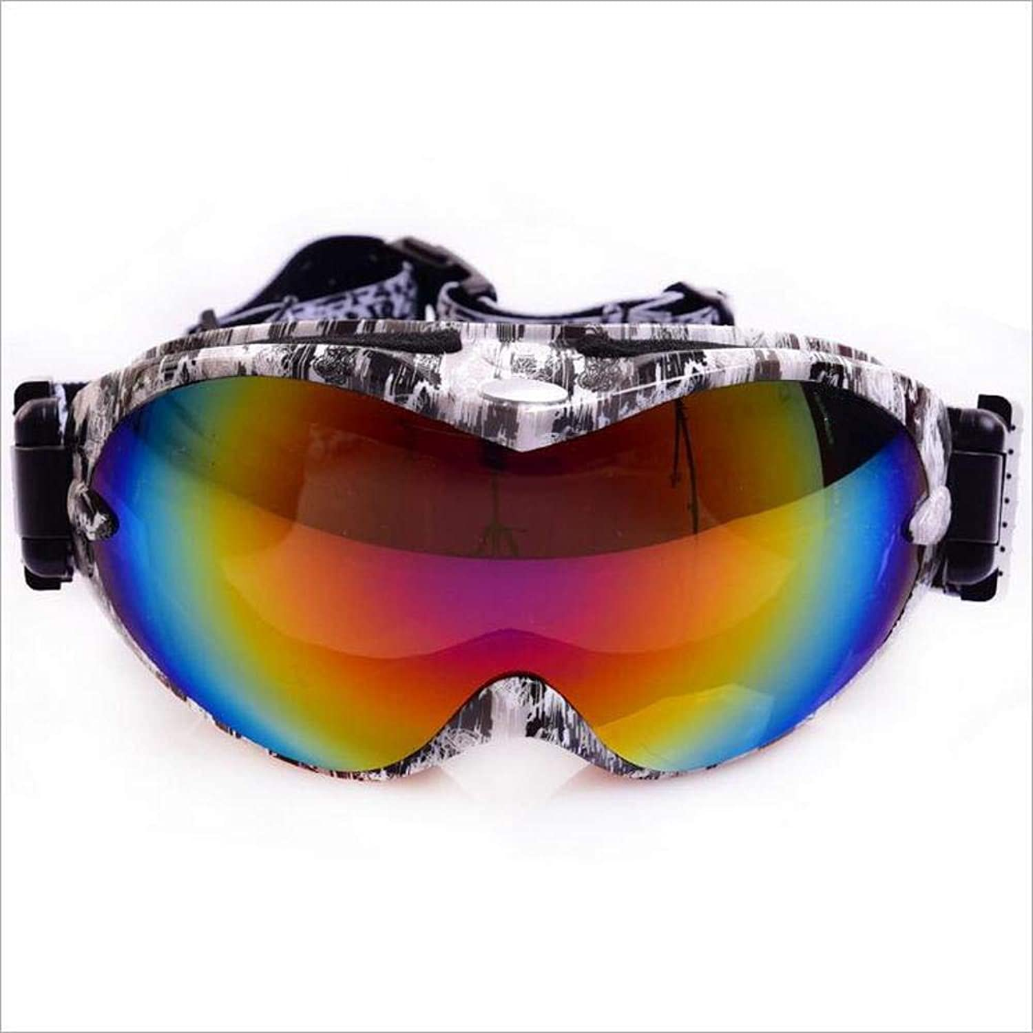 TtKj Sports Glasses Ski Goggles DoubleLayer AntiWind and dustProof Equipment Couples can be Used for Mountain Biking.