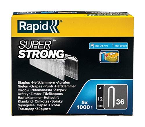 Rapid 5000511 Grapas, Gris, Nr.36, 12 mm