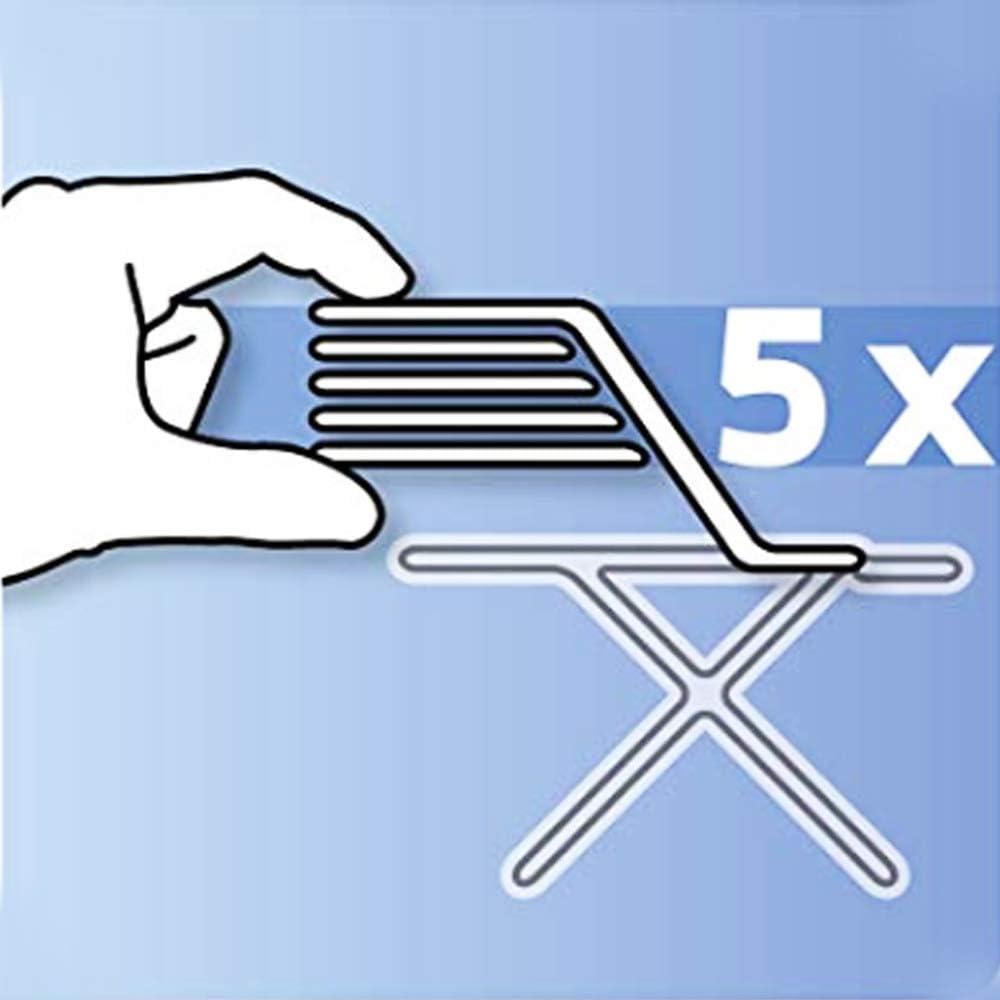avec 4 Clips rev/êtement de Planche /à Repasser 5mm avec Rembourrage Extra /épais l/éopard 144x52 ZJBKX Rev/êtement r/ésistant /à la br/ûlure rev/êtement de Planche /à Repasser