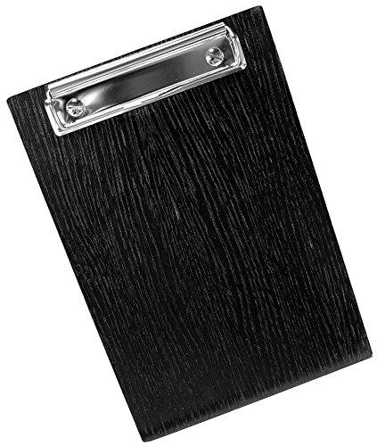 Kaltner Präsente klembord hout eiken A5 kleur zwart ook ideaal als menukaart of dagkaart (afmeting 23 x 16 x 0,5 cm)