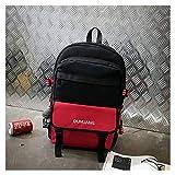 Mochila de gran capacidad para hombre, tela Oxford, bolsa de viaje de gran capacidad, bolsa de viaje de moda, ocio, versátil, color de contraste, para estudiante, color rosso Gemein