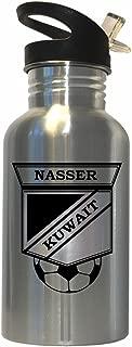 Yousef Nasser (Kuwait) Soccer Stainless Steel Water Bottle Straw Top