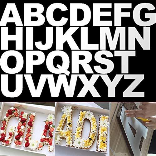 Rolin Roly 26 Stück 10 Inch Buchstabe Kuchen-Form-Set,Backen Kuchen Formen,Ausstechformen Zahlen für Geburtstag Party Dekoration