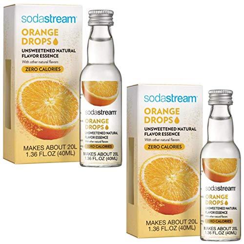 SodaStream Fruit Drops Flavored 1.36 fl oz, Pack of 2 (Orange)