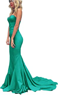 2f828447862 Topashe Women s Sweetheart Strapless Off The Shoulder Mermaid Long Prom  Party Gown Pearl Pink