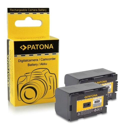 2x PATONA Akku CGR-D220 für Panasonic Camcorder NNV-DS30 | NV-DS38 | NV-DS50 | NV-DS55 | NV-DS60 | NV-DS65 | NV-DS77 | NV-DS80 | NV-DS89 | NV-DS99 | NV-DS200 | NV-DS990 | NV-EX1