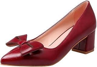 Zanpa Women Sweet Bow Pumps Mid Heels