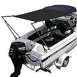 Oceansouth Marine Boat Bimini Top Extension Sun Shade Kit Black Blue Grey MA 046 (MA 046-2 Blue)